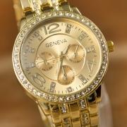 Ginebra Reloj  Cuarzo de Rhinestone de Dial Redondo