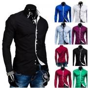 Stylish Lapel Long Sleeve Single-breasted Men's Shirt