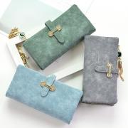 Fashion Solid Color Tassel Pendant Long Wallet