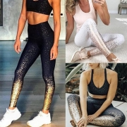 Leggings de Talle Alto con Estampado Brillante