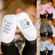 Pack de 2 Pares de Calcetines de Antideslizantes con Estampado Para Bebés
