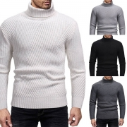 Suéter de Caballero de Escote Alto Manga Larga