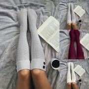 Calcetines Largos hasta la Rodilla de Color Sólido