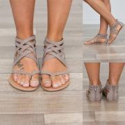 Sandalias de Correas de Tacón Plano