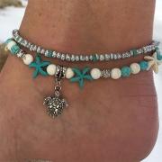 Tobillera con Colgante de Perlas Decorativas