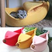 Cama para Mascotas en Forma de Plátano Estilo Lindo