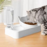 Dispensador de Agua Automático para Mascotas de Doble Cuenco de Estilo Creativo