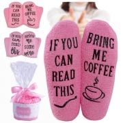 Calcetines de Peluche Estampados con Letras de Moda