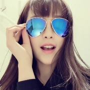 UV400 Gafas de Sol de Sombras de Aviator Espejo