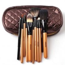 Maquillaje profesional de belleza Cosméticos 10 piezas del kit del cepillo Set con bolsa