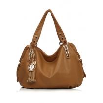 Solid elegante bolsa de hombro color con flecos bolso colgante