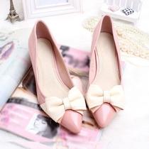 Bomba Femme Bow Point Toe alto tacón de aguja los zapatos