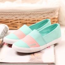 Contraste de colores planos de la lona Resbalón Sneaker Loafer