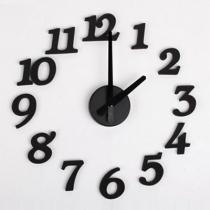 DIY Arte Diseño esponja de la espuma del reloj de pared del dígito