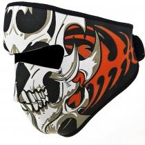 Cráneo clásico Tribal Reversible Negro a prueba de viento de neopreno media mascarilla mascarillas Headwear de la motocicleta ATV bici Ciclismo