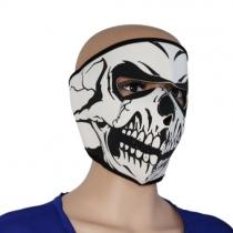Máscara bicicleta neopreno Skull cara llena de la motocicleta Reversible