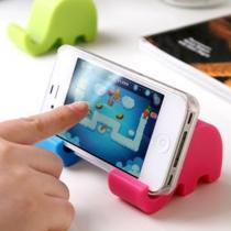 Super Cute Holder Celular Mini elefante soporte para el iPhone 5G 5S 4S Galaxy Note 2 3 (juego de 2, color al azar)
