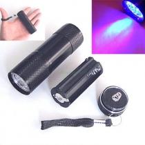 UV Ultra Violet Blacklight 9 LED linterna antorcha de luz