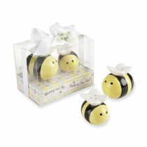 Ceramic Honeybee Salt & Pepper Shakers