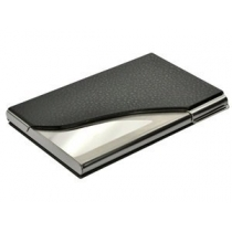 PU Leather and Stainless Steel Business Name Card Case Holder