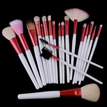 Profesionales de belleza 20 PCS Cepillos cosméticos maquillaje con la bolsa rosada