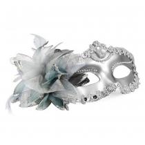 Estilo veneciano Máscara Silver Eye Traje Masquerade Mardi