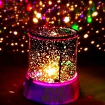 Noche de luz LED Beauty Star luz de la lámpara LED del proyector, luces de noche con cable USB