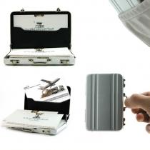 Tarjeta de visita Maletín Mini caja caliente de la tarjeta de crédito de aluminio Coin titular caso