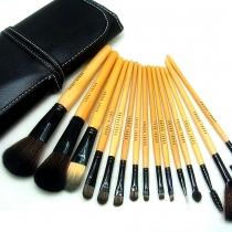 Belleza Profesional 15 PCS maquillaje Cepillos cosméticos conjunto con una bolsa