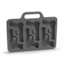 Bandeja del molde del silicón del molde del cubo de hielo con estilo en forma de pistola