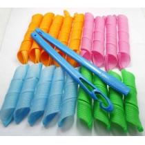 Herramientas 18pcs pelo Rodillos Caracol Rollos Styling Rizador, fácil en casa de bricolaje de forma natural