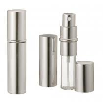 Silver Metallic Perfume atomizador spray 10 ml para el bolso o de viaje recargable