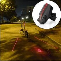 Logo Proyección de bicicletas Laser Luz trasera de la bici de la luz posterior LED