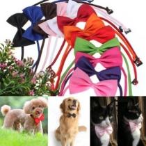 2pcs perro ajustable Collar Bow Tie mascota perfecta para accesorios del banquete de boda del lazo