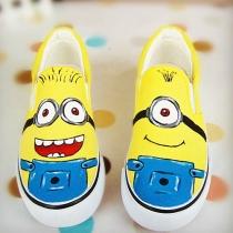 Despicable Me Minion Slip Pintura Amarilla En Sneaker Loafers