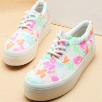 Retro Estilo Europeo florales Zapatos de lona de impresión