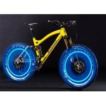 Flash LED del neumático del casquillo de válvula de luz para la bicicleta de la bici del coche Luz Motorbicycle rueda del neumático de la luz azul-VERDE COLORIDO (paquete de 4)
