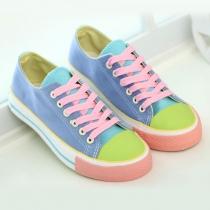 Caramelo lindo contraste de colores Zapatos Casual zapatillas de lona Pisos
