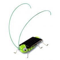 Chico adorable BUG Energía Solar Robot insectos saltamontes de la langosta juguete