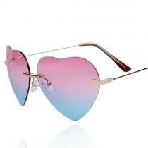 Coo. Marco del corazón del amor del color del gradiente de lentes de sol Mirror Shades