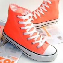 Alto color del caramelo de los zapatos ocasionales de Flat Top Sneaker