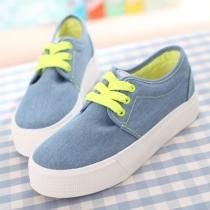 Ate para arriba los zapatos de lona casuales Low Top Sneaker Flat