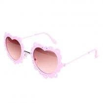 Metallic bastidor cortado el corazón del amor anti UV Gafas de sol Sombras