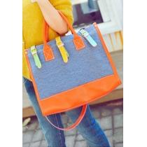 Colorido contraste del color lindo del monedero del bolso del totalizador de Crossbody del bolso de compras