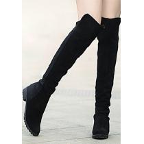 Retro romano magnífico elegante de color Pure Over-the-knee Boots
