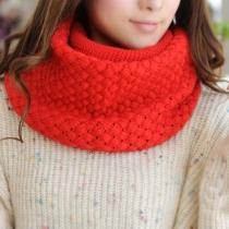 Ocio dulce del color sólido del Abierto de punto del infinito de la bufanda