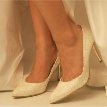 Elegant Shoes Charm Lace Spliced Stiletto Fiesta de tacón alto