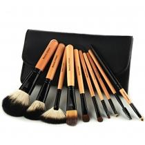 10 PCS maquillaje cepillo cosméticos conjunto de herramientas con Negro de la bolsa
