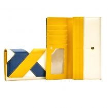 Fashion Spliced Contrast Color Wallet