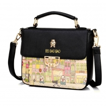 Fresh Style Graffiti Pattern Shoulder Messenger Bag